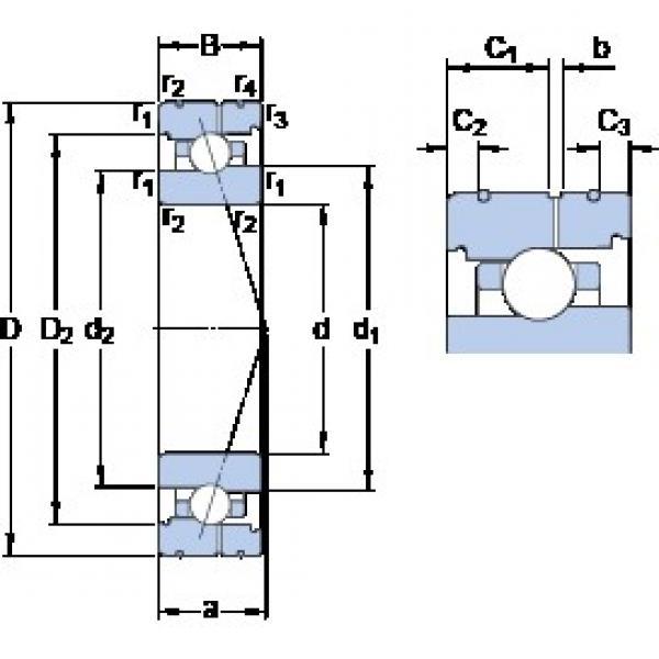 SKF 71922 ACB/P4AL angular contact ball bearings #2 image