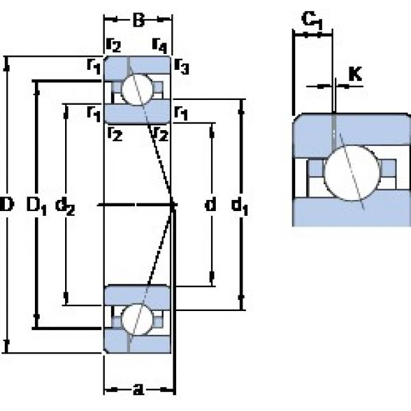 SKF 7007 CE/HCP4AH1 angular contact ball bearings #2 image