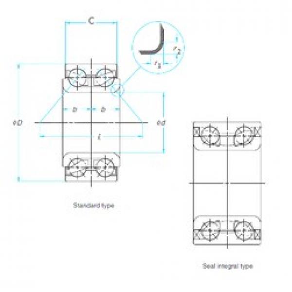 ISO DAC42820036 angular contact ball bearings #2 image