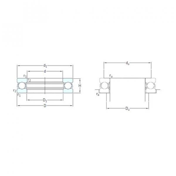 SKF 51124 thrust ball bearings #2 image