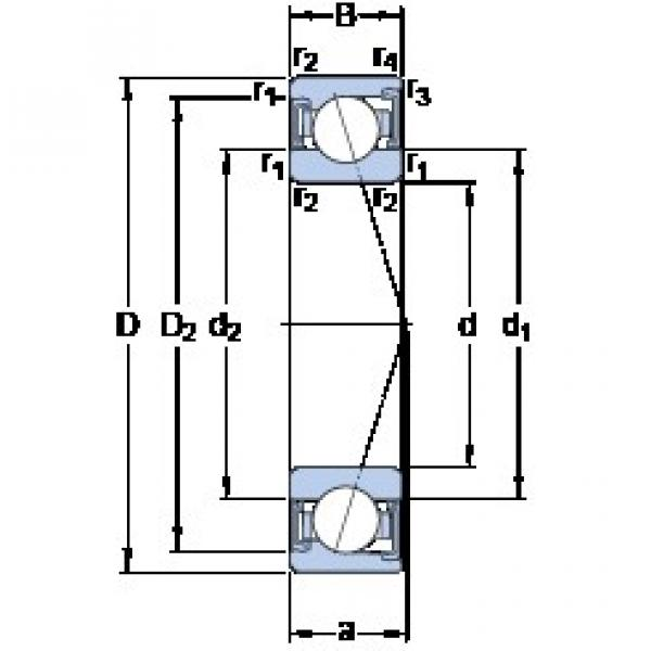 SKF S71911 ACD/P4A angular contact ball bearings #2 image